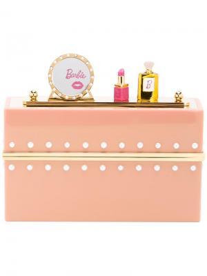 Клатч Barbie World Charlotte Olympia. Цвет: розовый и фиолетовый
