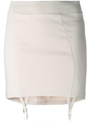 Короткая юбка Murmur. Цвет: телесный