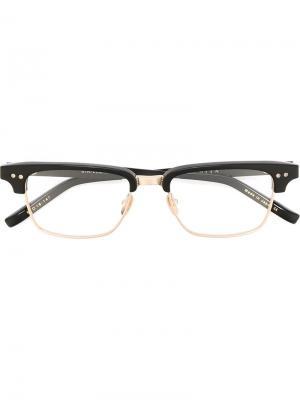 Очки Statesman three Dita Eyewear. Цвет: чёрный