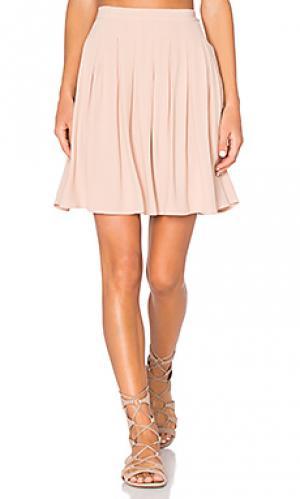 Плиссированная мини юбка holiester American Vintage. Цвет: румянец