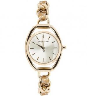 Часы с золотистым металлическим браслетом Morgan