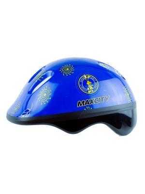 Роликовый шлем BABYLITTLERABBIT MAXCITY. Цвет: синий