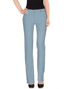 Повседневные брюки LIST. Цвет: небесно-голубой