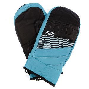 Варежки сноубордические  Royal Mitt Blue Pow. Цвет: черный,синий