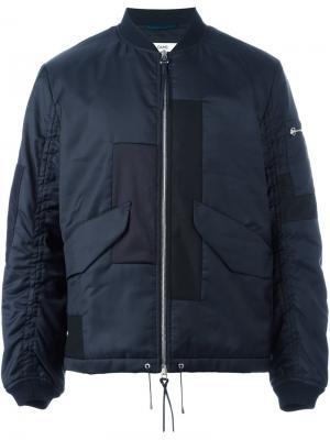 Куртка-бомбер с панельным дизайном Oamc. Цвет: синий
