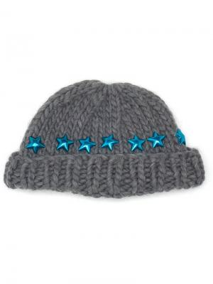 Knitted Star Beanie Hat Wool And The Gang. Цвет: серый