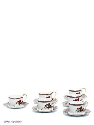 Чайный набор Восточное Поло Pavone. Цвет: белый, синий