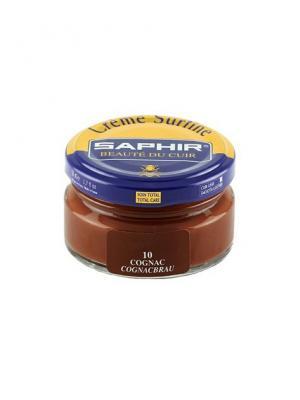 Крем для обуви банка стекло sphr0032 Creme Surfine 50 мл (10 коньяк) Saphir. Цвет: коричневый