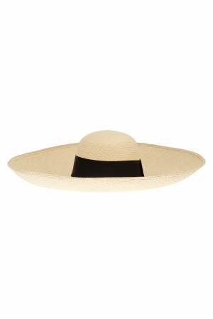 Соломенная шляпа Playa Natural Artesano. Цвет: кремовый, черный
