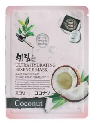 Комплект увлажняющих масок с натуральным экстрактом кокоса, 25 мл. *10 шт. Shelim. Цвет: белый