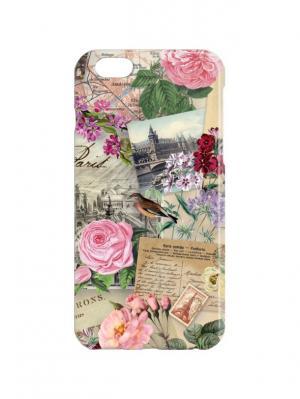 Чехол для iPhone 6 Французские открытки Арт. IP6-397 Chocopony. Цвет: бежевый, розовый
