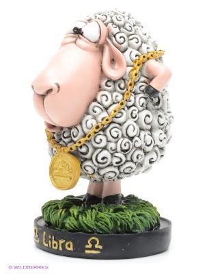 Статуэтка Овца Знак Зодиака The Comical World of Stratford. Цвет: белый, зеленый, розовый