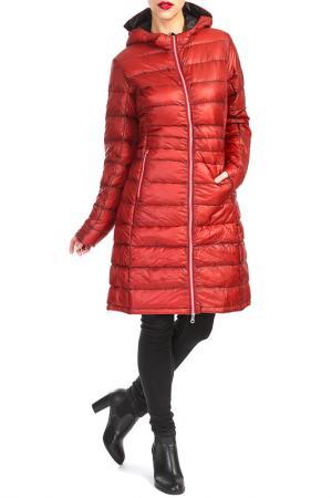Пальто YETI. Цвет: красный