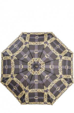 Зонт с футляром Moschino. Цвет: черный