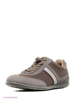 Кроссовки ECCO. Цвет: серый, коричневый, светло-коричневый, белый