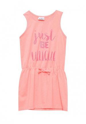 Платье Blukids. Цвет: коралловый