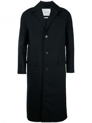 Однобортное пальто Mackintosh. Цвет: чёрный