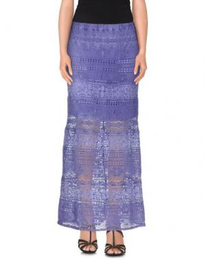 Длинная юбка TEMPTATION. Цвет: фиолетовый