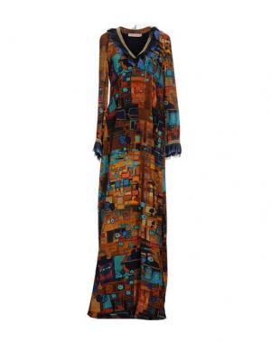Длинное платье FRANKIE MORELLO. Цвет: коричневый