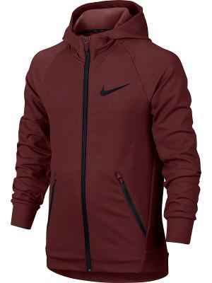 Толстовка B NK DRY HOODIE FZ HYPER FLC Nike. Цвет: красный