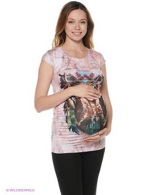 Блузка для беременных 40 недель. Цвет: бледно-розовый