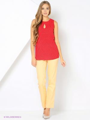Блузка Femme. Цвет: красный