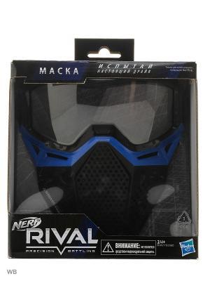 Нёрф РАЙВАЛ игровая маска NERF. Цвет: синий, черный