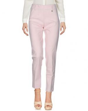 Повседневные брюки POIS. Цвет: светло-розовый