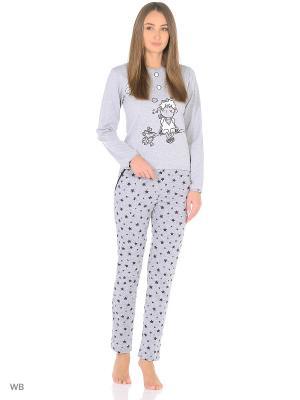 Комплект домашней одежды ( кофта, брюки) HomeLike. Цвет: серый