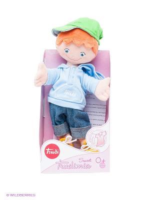 Мягкая кукла Мальчик в кепке TRUDI. Цвет: голубой, рыжий, синий