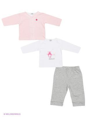 Комплект Teidem. Цвет: бледно-розовый, белый, серый меланж