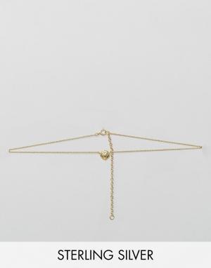 ASOS Ожерелье из позолоченного серебра с подвеской Лев. Цвет: медный