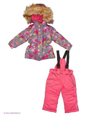 Комплект одежды PicCo. Цвет: серый, розовый