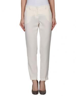 Повседневные брюки TO-MAY. Цвет: белый