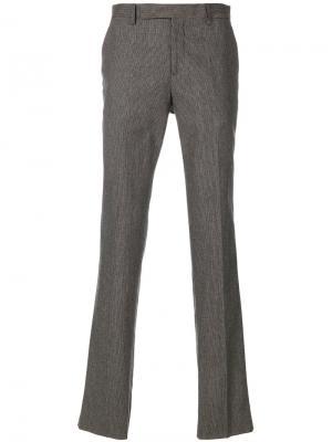Классические брюки Maison Margiela. Цвет: серый