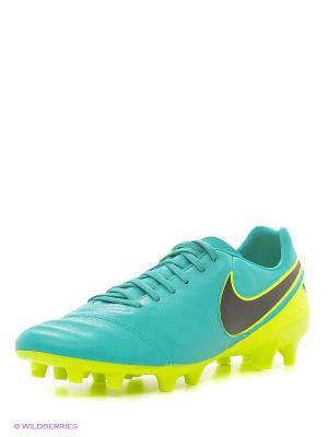 Бутсы TIEMPO MYSTIC V FG Nike. Цвет: зеленый
