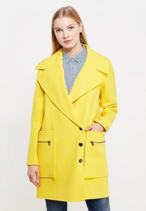 Пальто Sportmax Code. Цвет: желтый