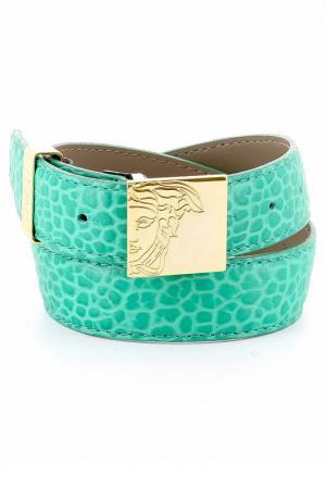 Ремень Versace Collection. Цвет: зеленый