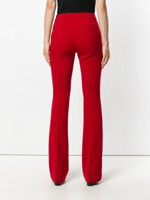Расклешенные брюки с завышенной талией Ki6. Цвет: красный