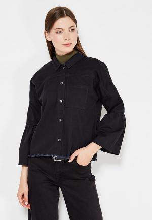 Рубашка джинсовая Noisy May. Цвет: черный