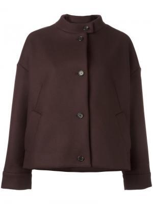 Укороченное объемное пальто Aalto. Цвет: коричневый