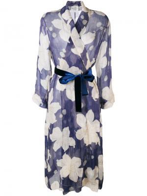 Lili print dress coat Forte. Цвет: синий