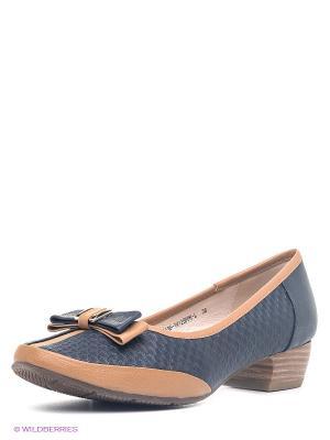 Туфли Sinta Gamma. Цвет: темно-синий, коричневый