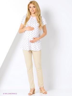 Блузка для беременных FEST. Цвет: белый, розовый