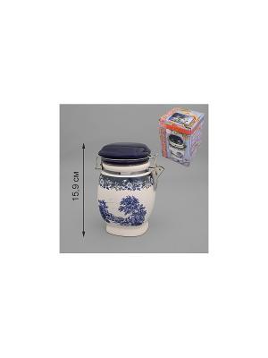Банка для сыпучих продуктов ЛИЛЛИ-ЛУ MOLENTO. Цвет: белый, синий