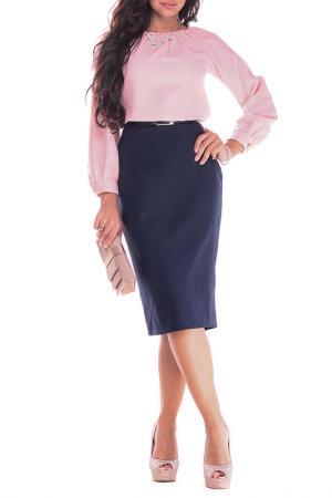 Платье Dioni. Цвет: персиковый, темно-синий
