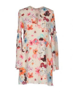 Короткое платье TENAX. Цвет: светло-розовый