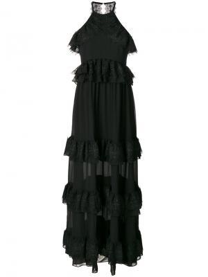 Вечернее платье Grandeur Three Floor. Цвет: чёрный