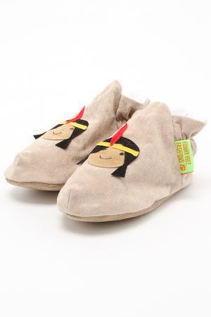 Туфли домашние Funky Feet Fashions™. Цвет: бежевый