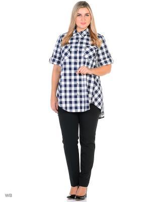 Блузка Фарт Фаворита. Цвет: черный, белый